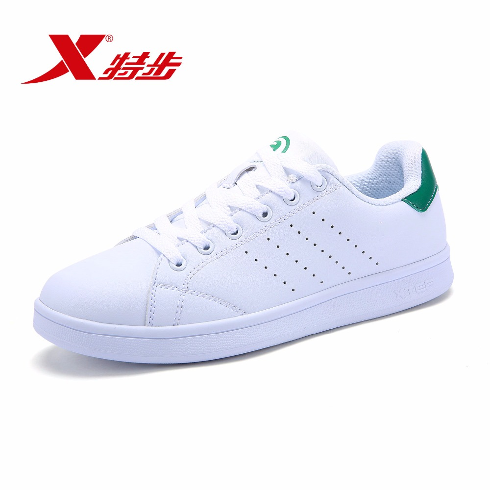 983218319266 XTEP 2018 Unisex Sælger anbefaler Par Leather Man Women White Stan Sneakers Skateboarding Shoes