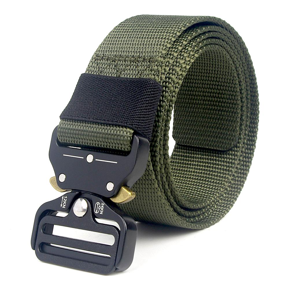 Unisexe Fashion Militaire Tactique Ceinture boucle en métal élastique Training Bataille ceintures
