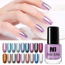 NEE JOLIE 7.5ml 3.5ml Mirror Nail Polish Silver Gray Red Rose Gold Long-Lasting Lacquer  Varnish Fast Dry