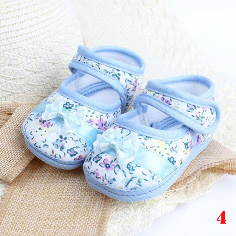 2016 Baby Toddler Shoes Soled Flower Shoe Infant First
