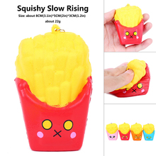 squis food cute original mini kawai stickers French Fries Antistress Squeeze squash hot toy slow rising