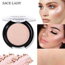 SACE LADY Highlighter Powder 6 Colors Face Iluminator Makeup Professional Glitter Palette Glow Kit Brighten Cosmetic