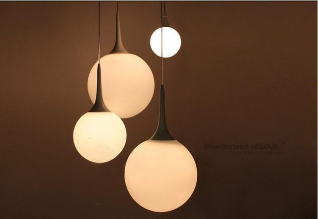 Attractive Free Shipping 1Piece Modern White Milk Glass Globe Lamp Pendant Light  Living Room Home Decoration