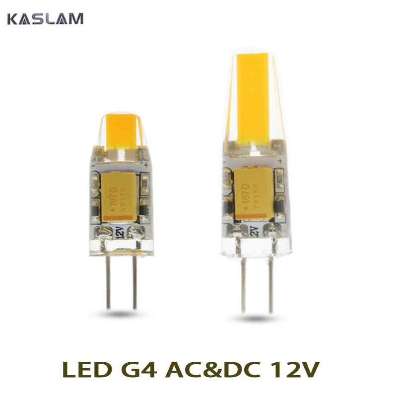 1X Hot Sale AC&DC  12V LED lamp G4 corn Bulb COB SMD  LED light 360 degrees Beam Angle spotlight lamps bulb