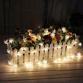 4.8M 20LEDs Lotus Flower Solar Lamp Garden Waterproof Decoration Fairy Holiday Christmas Party Solar LED String Fairy Light