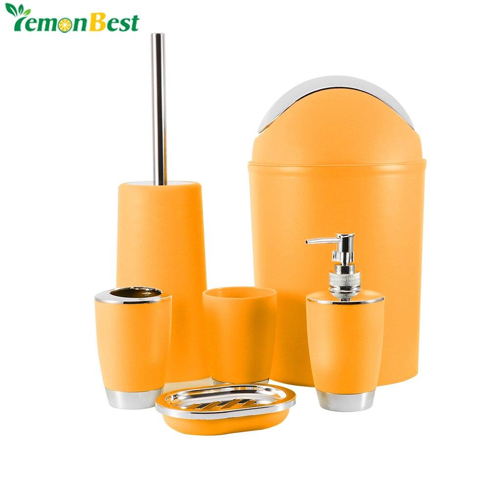 Lemonbest lunxtry 6 pcs bathroom accessory set rinse cup for Bathroom accessories shampoo holder