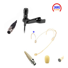 Professional Headset Microphone and Lavalier Microfone Condenser for AKG Samson Wireless Transmitter XLR 3pin Mickrofon