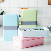Lunch Box for Kids Food Container Double Layer Microwave Japan Bento Box Storage Portable School Picnic Set Lunchbox 1200ml