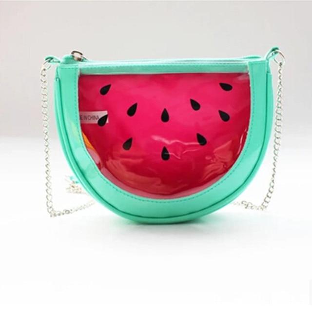 Spring/Summer bolsa feminina New Women/Kids Messenger Bags Transparent Watermelon ShoulderBags Parent-child Fashion Fruit Bolsos