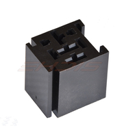 5Pcs 80 Amp Relay Connector 4 Pin Relay Socket with 4 Terminals: 2 x 6.3mm + 2 x 9.5mm