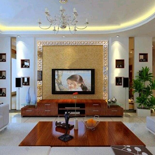 Heißer Verkauf Dekoration Wandbild Home Decor Spiegel Wandaufkleber  Wandtattoos Für Wohnzimmer 6 Farben Freeshipping