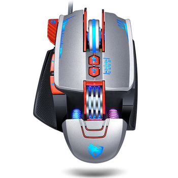 Professional Gaming Mouse 3200DPI Optical USB Wired Computer Mouse Gamer LED Mice Game Mouse Ergonomic Mause For Laptop PC zelotes f18 gaming mouse professional 3200dpi usb wired 2 4ghz wireless game mouse mice for computer pc rechargeable finger