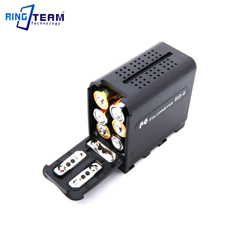 2Pcs Power As NP-F970 NP F970 Battery Case FALCON EYES BB-6 BB6 Box for 6 AA Battery fit LED Video Light Lamp, Monitor Panels...