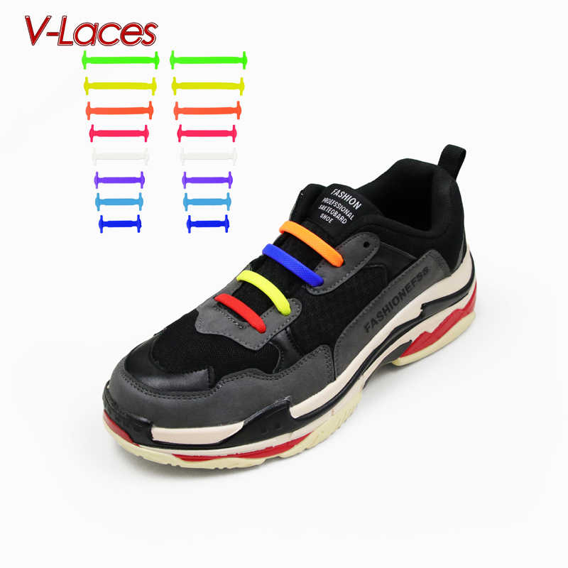 Shoelaces For Christmas.Child Lazy Elastic Silicone Multicolor Shoelace No Tie Running 12pcs Pack Shoelaces For Christmas Gifts
