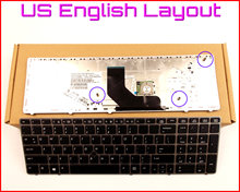 New Keyboard US English Version for HP ProBook 6560B 6565B 6570B 8560B 6560P 6575B Laptop W/Silver Frame & Pointer(China)