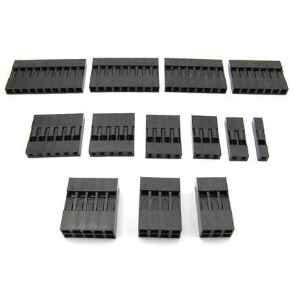 Dupont Plastic Shell Plug 2.54mm Single Row Dupont Connector 1P/2P/3P/4P/5P/6P/7P/8P/9P/10P Housing