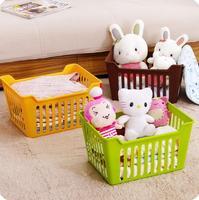 Large Japan Style Storage Basket Multi purpose Desktop Miscellaneously Plastic Baskets Toys Clothes Fruit Basket