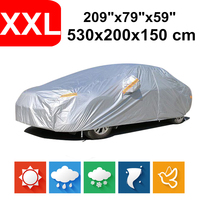 530x200x150 Universal Saloon Sedan 190T Waterproof Car Covers Dust Rain Snow UV Protection For BMW 5 Series Benz CLS Class Audi