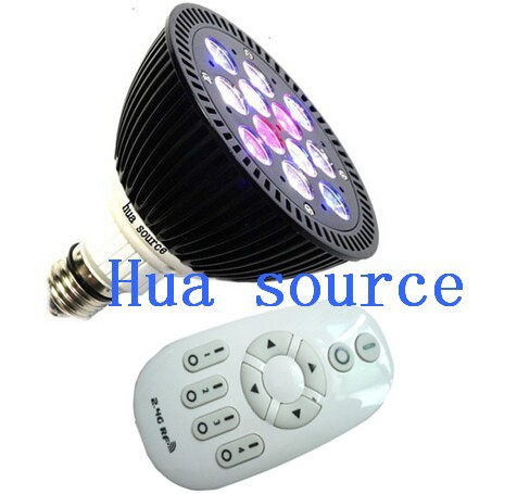 Remote Controlled Dimmable New LED Aquarium lamp Remote control lamp LED Coral Reef Grow Light High Power Fish Tank Lamp remote control color fish tank bubble lamp fish tank diving lamp led oxygen lamp aquarium led lamp