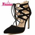 Novas Mulheres Da Moda Bombas de Casamento Sexy Sapatos de Salto Alto Mulheres Sapatos Primavera Verão Outono Preto Sapatos de Saltos Finos Mulher # Y0589637L