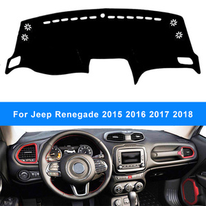 For Jeep Renegade 2015 2016 2017 2018 Dashboard Cover Dashmat Pad Anti-UV Sun Shade Instrument Panel Carpet Styling Accessories(China)