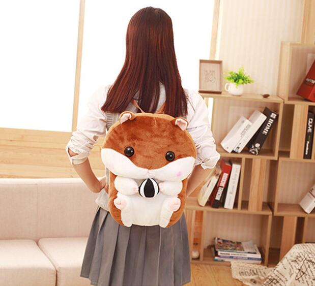 girl hamster soft chubby doll shoulder Super gift birthday stuffed toy Guo bag Candice plush squirrel cute 1pc guo! backpack cartoon 3