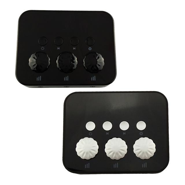 BW-108 3 em 1 Divisor De Áudio de 3.5mm AUX Receptor de Música do Bluetooth 4.0 Estéreo com Efeito de Som para Carro Falante Fone De Ouvido