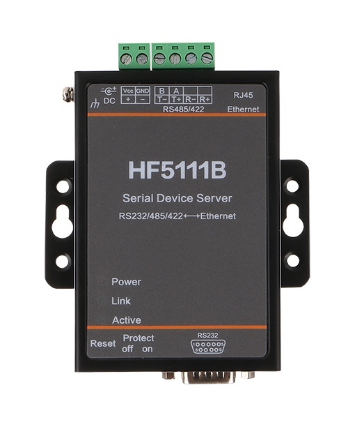 HF5111B Serial Device Server RS232/RS485/RS422 Serial To Ethernet Free RTOS Serial Server