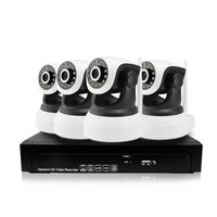 4CH 960 P 1.3MP IP Kamera PTZ Sistemi Pan Döndür CCTV Açık güvenlik HD Video Ağ P2P Gözetim Ses 8CH NVR Kamera kiti