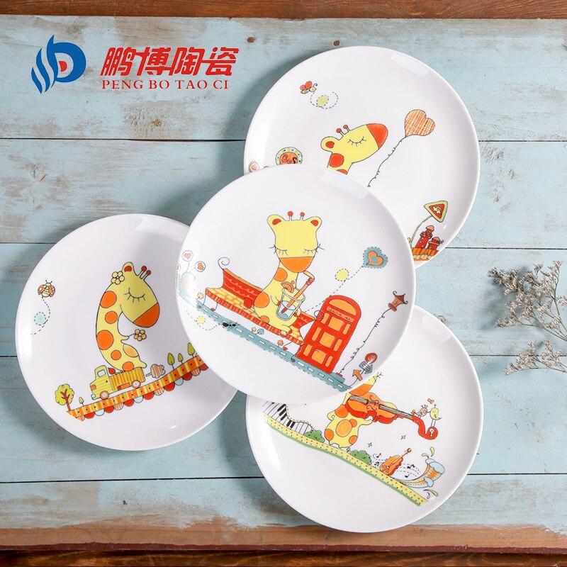 Piatti In Ceramica Per Bambini.Us 35 8 Stile Occidentale 8 Pollici Stoviglie In Ceramica Del Fumetto Osso Piatti Di Porcellana Per Il Ristorante Rotondo Bambini Belli Piatto
