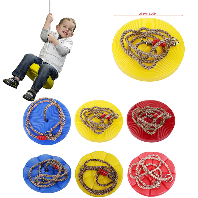 New Children Round Disc Swing Toys Adjule Kids Rope Swings 6 Colors Plastic 2018 Outdoor Entertainment