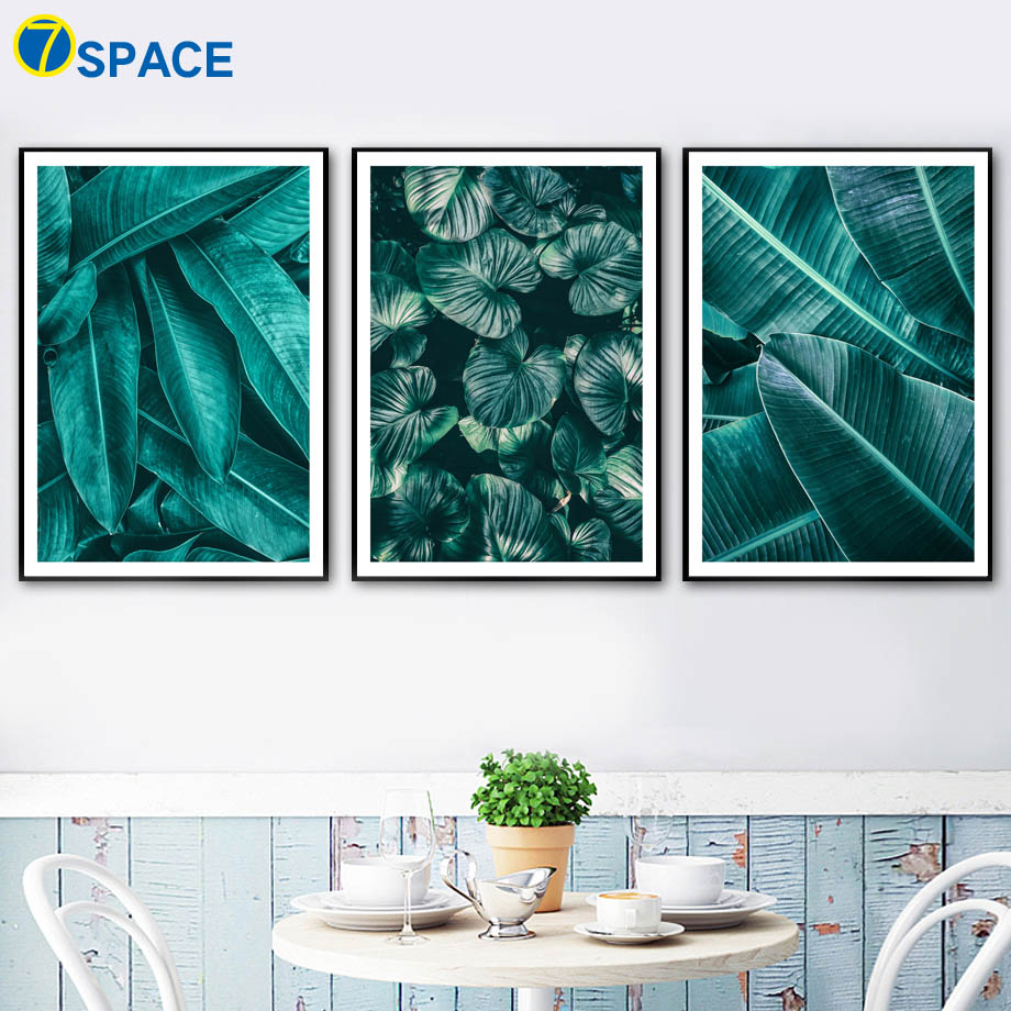 Green Banana Leaf Tropical Plant Leaves Wall Art Canvas