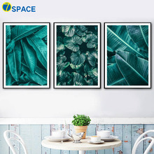 Green Banana leaf Tropical Plant Leaves Wall Art Canvas Painting Nordic Posters And Prints Pictures For Living Room Decor