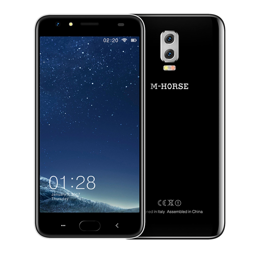 M-HORSE Power 2 Android 7.0 6000mAh 4G Cell Phone 5.5'' HD 8MP Quad Core 2GB+16GB Dual Rear Camera Smartphone Fingerprint BT5.0