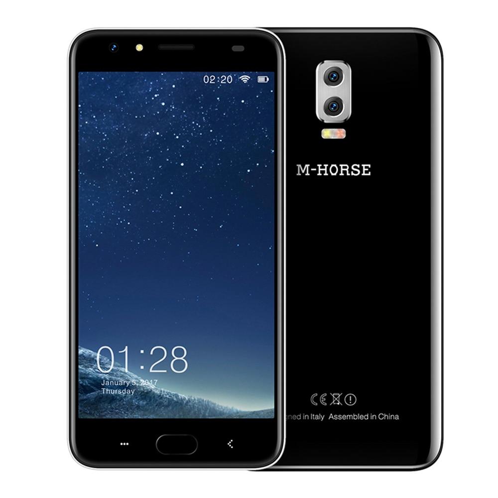 M-HORSE Power 2 Android 7.0 6000mAh 4G Cell Phone 5.5'' HD 8MP Quad Core 2GB+16GB Dual Rear Camera Smartphone Fingerprint BT5.0