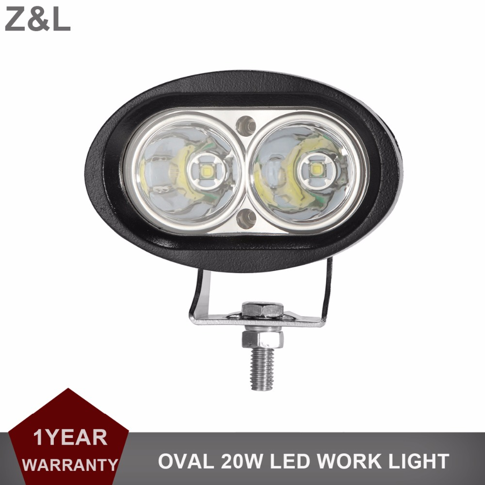 20W Oval LED Work Light Offroad Car Auto Truck ATV Motorcycle Trailer 4x4 Extra Fog Lamp Driving Headlight 12V 24V Spot Flood