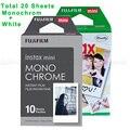Fujifilm instax mini 8 film 3 pulgadas monocromo blanco y 20 unids para Instax Mini 7 S 25 8 50 s 90 y COMPARTIR Impresora de Teléfonos Inteligentes