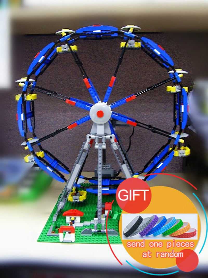 15033 1170Pcs Building Classic Series The Three-in-One Electric Ferris Wheel Set Building Blocks Compatible with 4957 toy lepin new lepin 16009 1151pcs queen anne s revenge pirates of the caribbean building blocks set compatible legoed with 4195 children