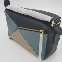Cow Genuine Leather Multi color Geometric Bag Shoulder Bag Women Shoulder Diagonal Bag Totes Luxury Brand Crossbdy Ins Popular