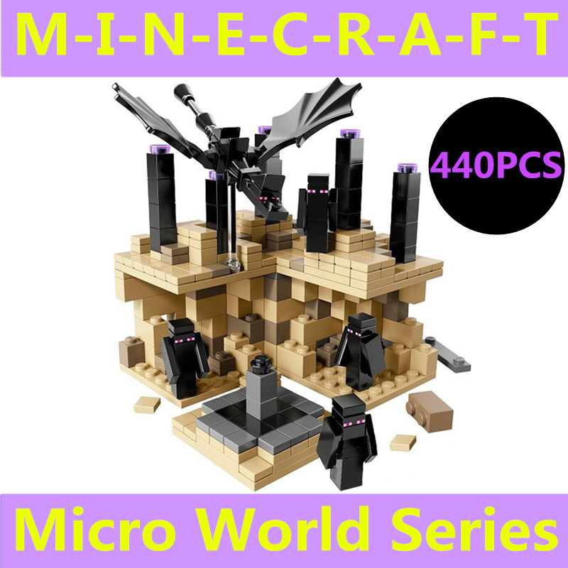 440 Pcs MY World toy MC Figures steve zombie skeleton font b minecraft b font Building
