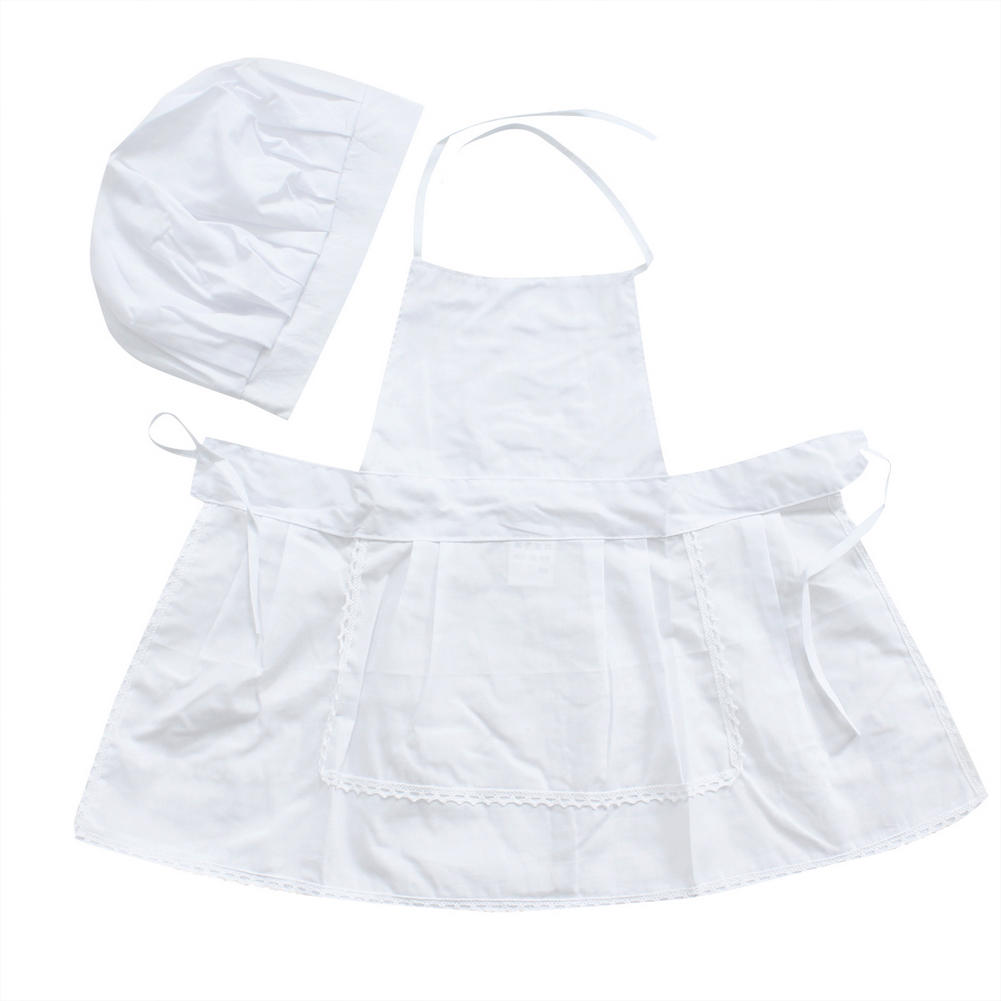 White apron costume - Cute Newborn Baby Kids White Cook Chef Hat And Apron Cosplay Costume Clothes Set Outfits Photography