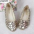 Новая коллекция весна женщины трещины Колледж беременности поскользнуться на обувь на плоской женщин верхняя одежда повседневная обувь Одного ballerines femme chaussures сулье