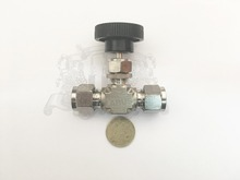 10 mm needle valve . Stainless steel 304 .