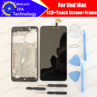 UMI Max LCD Display Touch Screen Digitizer Middle Frame Assembly 100 Original New LCD Touch Digitizer