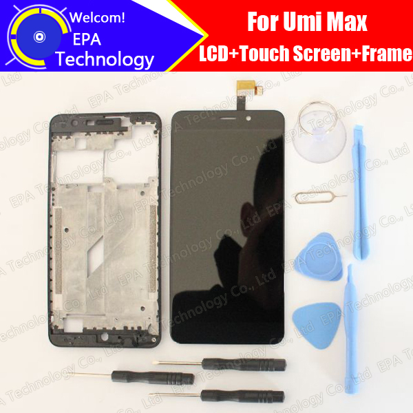 UMI Max LCD Display+Touch Screen Digitizer+Middle Frame Assembly 100% Original New LCD+Touch Digitizer for Max F 550028X2N-in Mobile Phone LCD Screens from Cellphones & Telecommunications    1