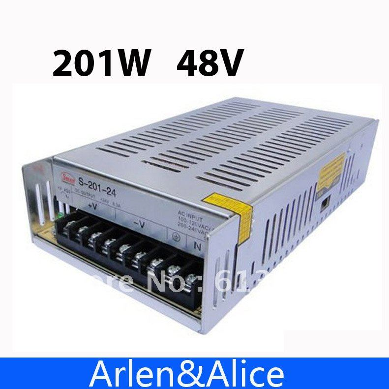 201W 48V 4.2A Single Output Switching power supply for LED Strip light AC to DC ac 85v 265v to 20 38v 600ma power supply driver adapter for led light lamp