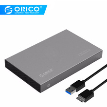 ORICO  2.5 inch Hard Drive Enclosure Aluminum USB3.0 5Gbps Support 7mm & 9.5mm (hard drive not include)- Grey(2518S3-GY)