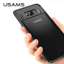 USAMS Full Protective Case for Samsung Galaxy S8 TPU Acrylic Transparent Back Cover Ultra Slim for