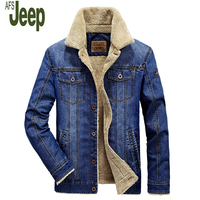 AFSJEEP Autumn And Winter Men S New Denim Jacket Fashion Casual Jacket Large Size Plus