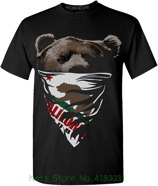 Hat And Beyond Mens California Republic Bear Cali Flag Bandana Graphic  T-shirts O-neck Sunlight Men T-shirt 191c17321ef